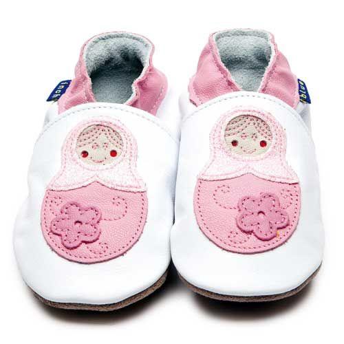 Baboushka White Glitter 2598 Leather Baby Shoes Baby