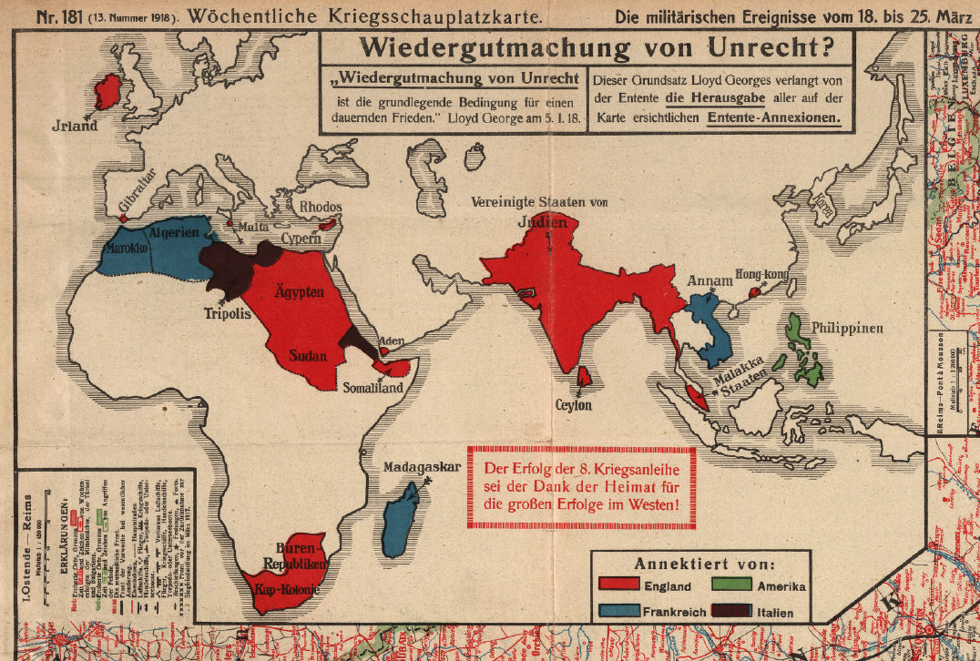 Afternoon map 2 views of world war 1 maps and infographics afternoon map 2 views of world war 1 gumiabroncs Images