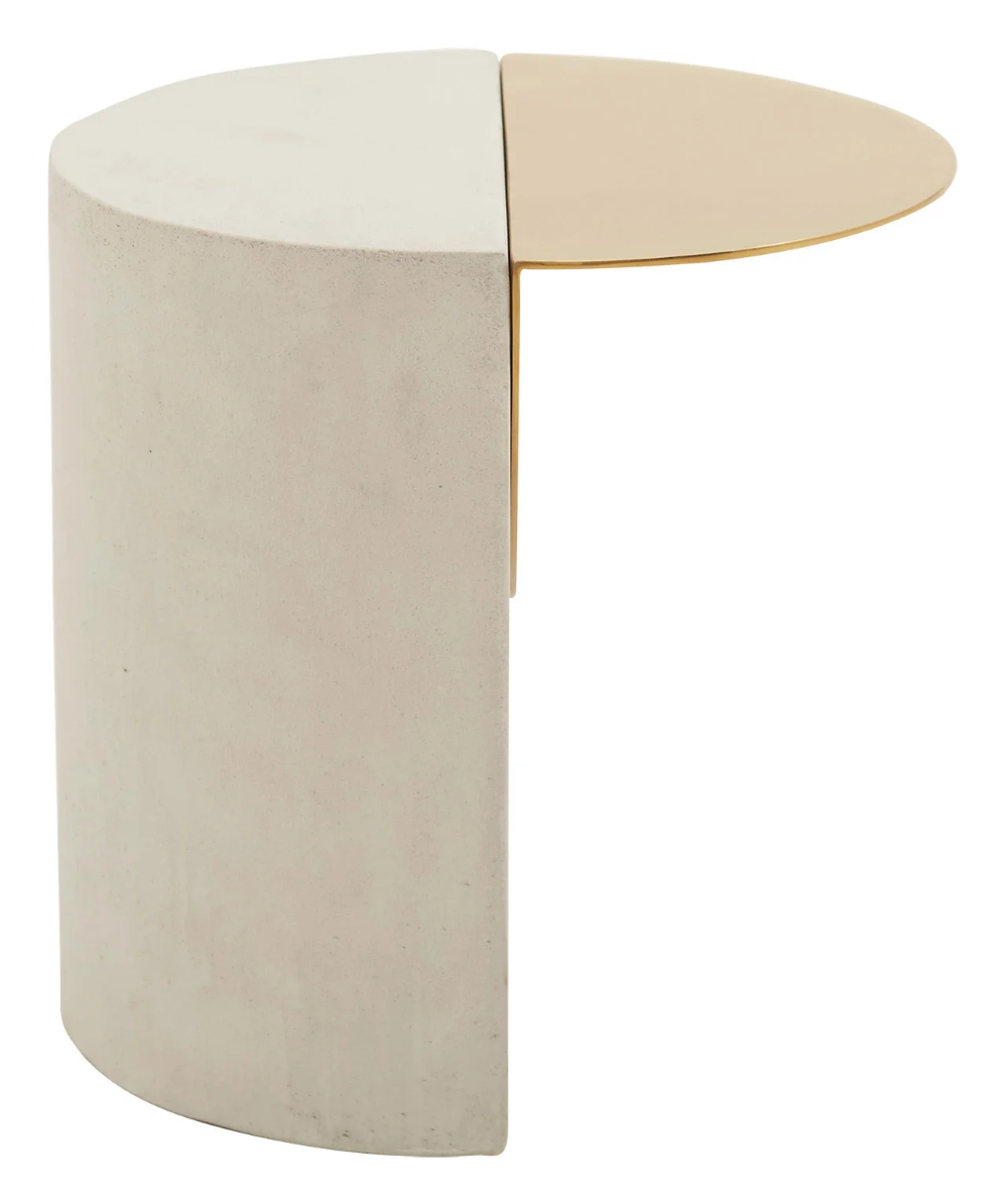 Leda Tables White Concrete Modern Spaces Side Table