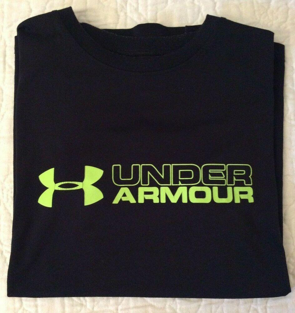 Under Armour Loose Heat Gear Black W/Neon Yellow Logo