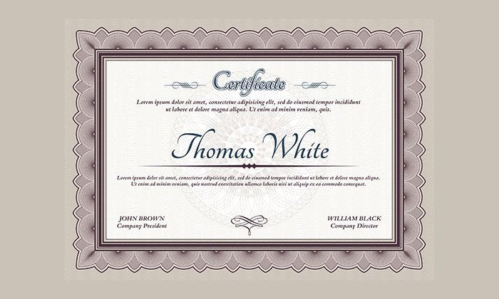 Printable Certificate Template - 35+ Adobe Illustrator Documents