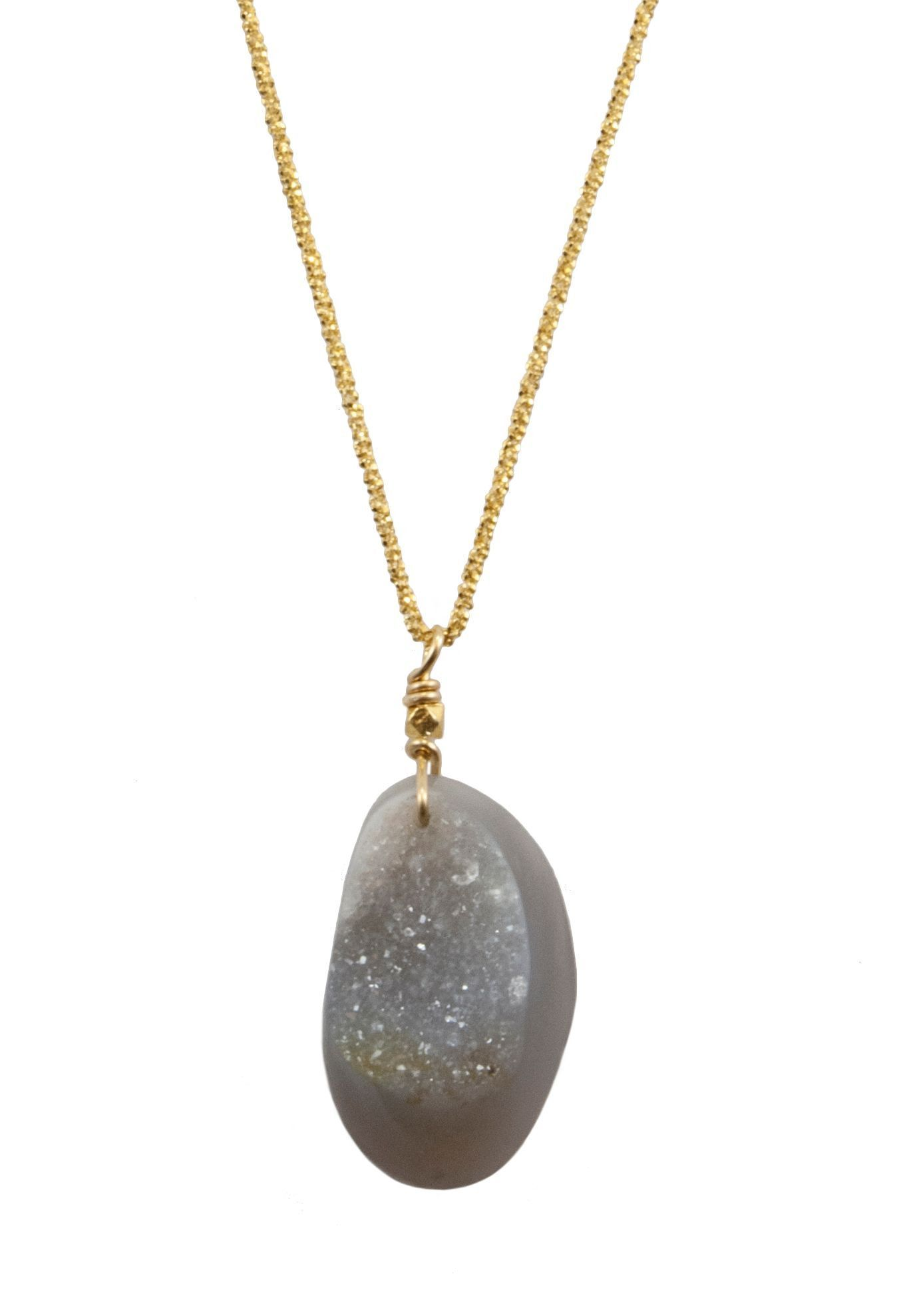 Polished Edge Druzy Necklace