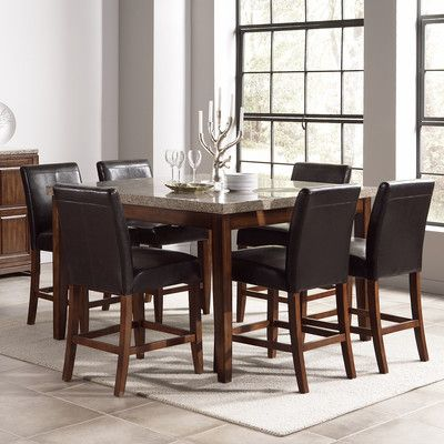 Granite Top High Table Dining Room Wayfair Com Round Dining