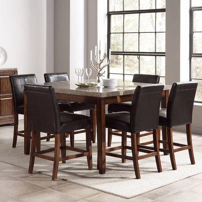 carmine 7 piece dining table set - with its creamy caramel-colored, Esstisch ideennn