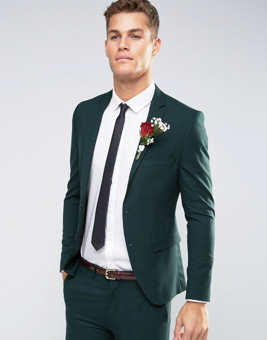 8e5032632b99 Selected+Homme+Bottle+Green+Suit+in+Superskinny+Fit+with+Stretch ...