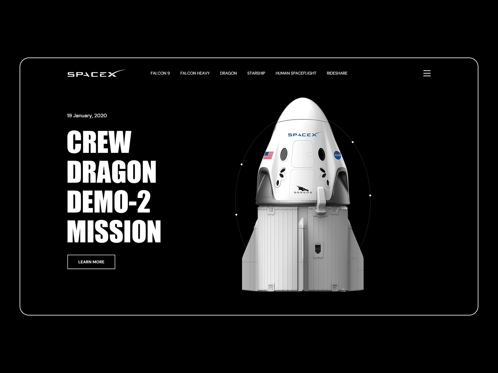SpaceX - Crew Dragon Demo - 2 Mission in 2020 | Spacex, Mission ...