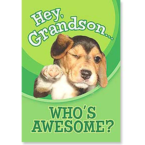 Birthday Card Grandson Who's Awesome
