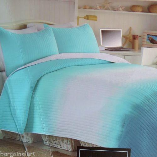 Turquoise Aqua White Teal Tie Dye Cynthia Rowley Ombre