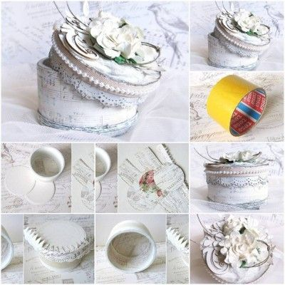 How to make Tape Roll Jewelry Box step by step Thats clever
