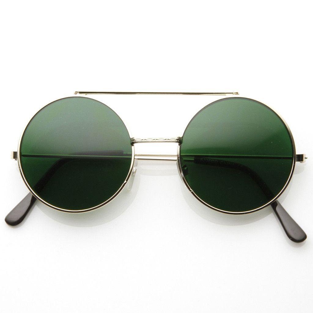 Steampunk Vintage Circle Round Flip Up Vintage Sunglasses 8793