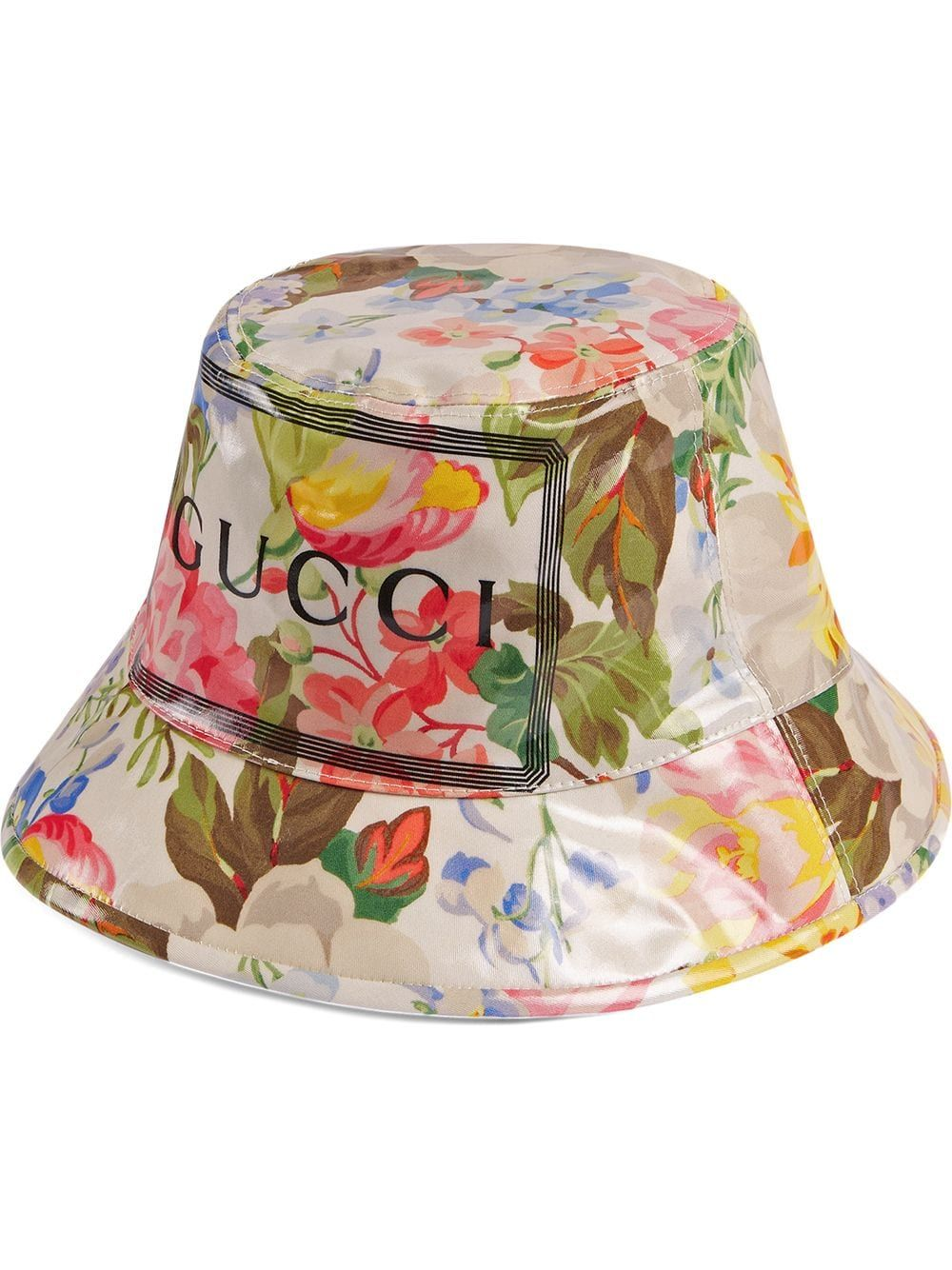 d69d48b12 Gucci Fedora with floral print - White in 2019 | Products | Gucci ...