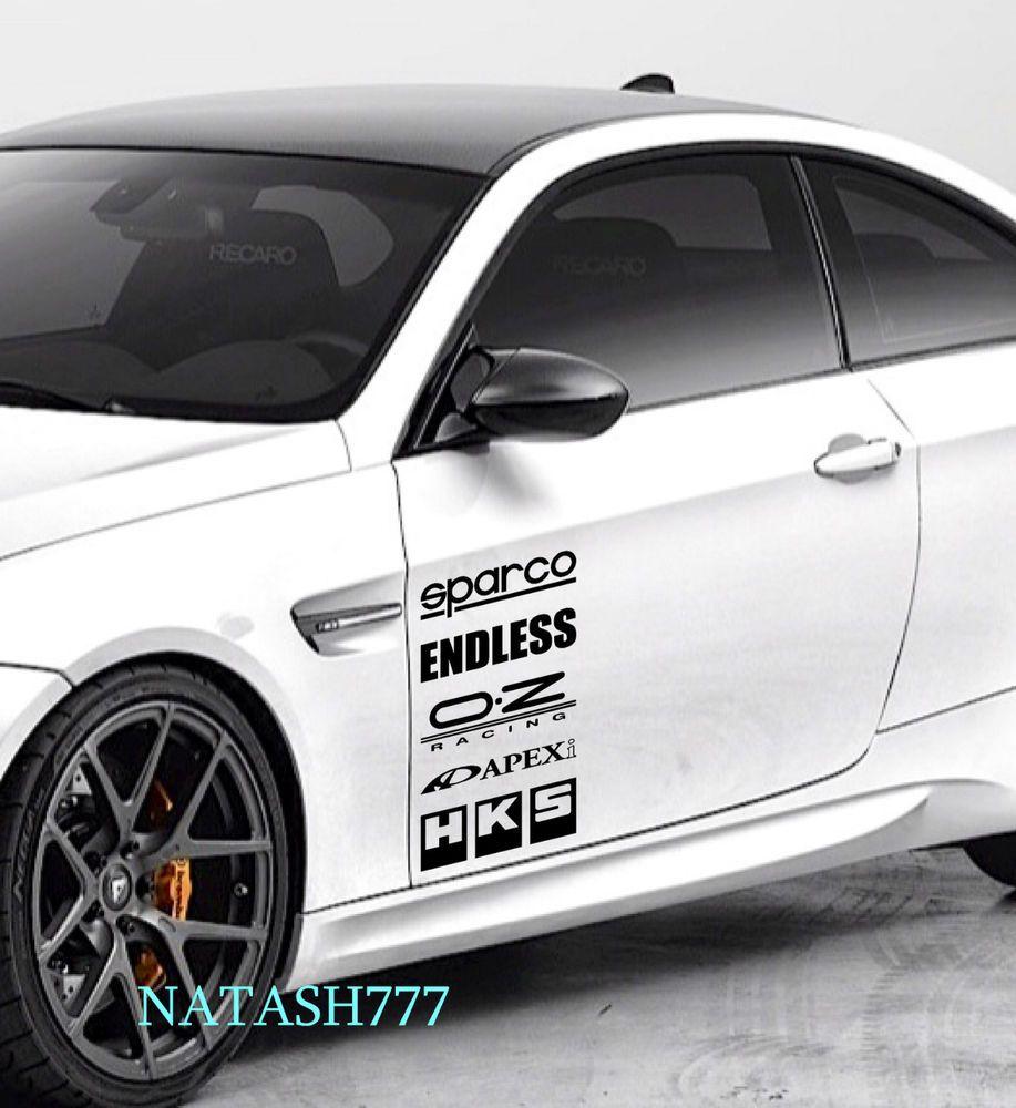 Sport car sticker design - Racing Sponsors Infiniti Sport Car Sticker Emblem Logo Decal Black Pair