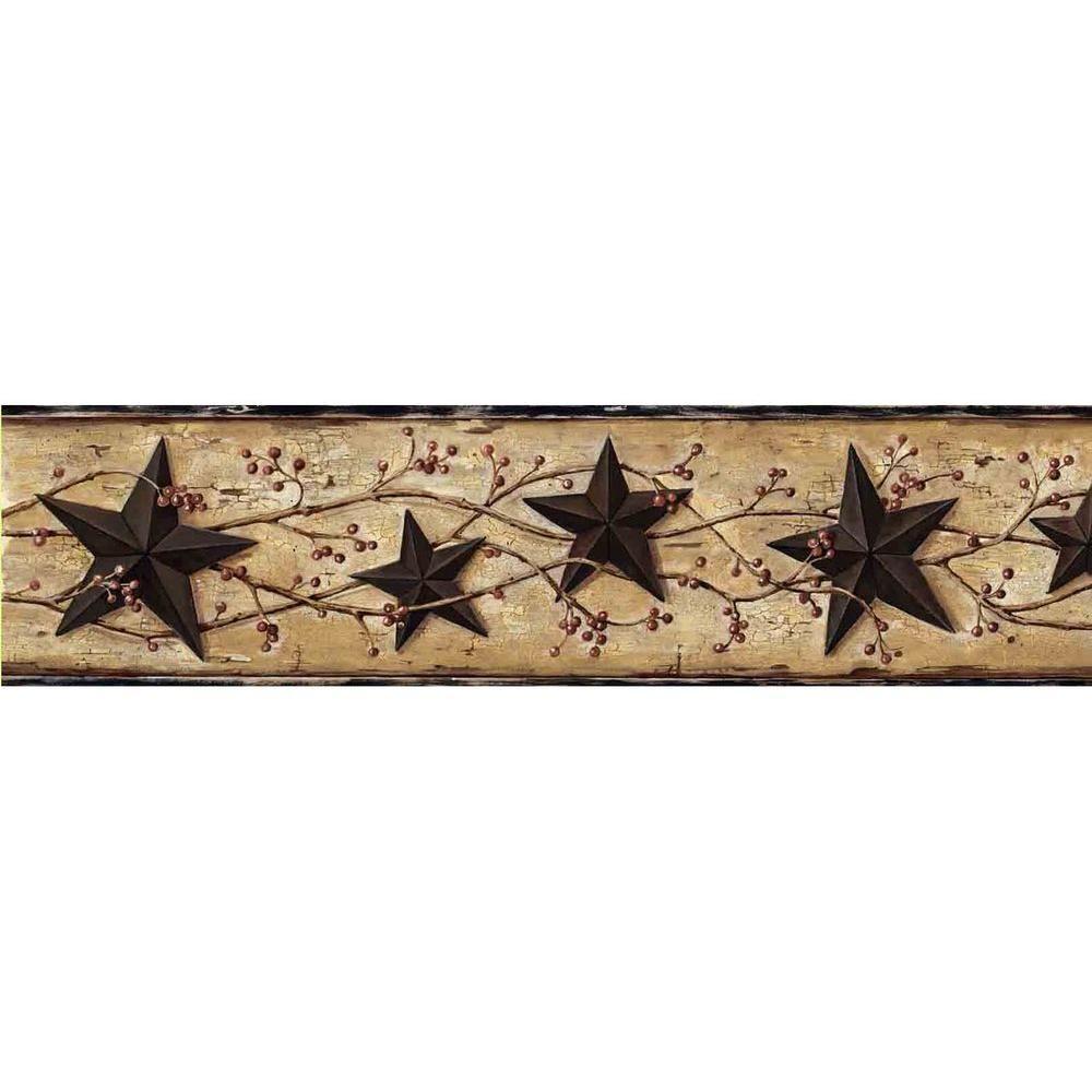 5 7 In X 10 In June Black Heritage Tin Star Border Sample Star Wallpaper Tin Star Wallpaper Border