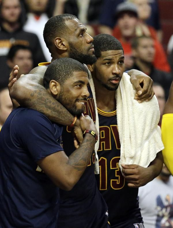 NBA Eastern Conference Finals: Cavaliers vs. Hawks. Cleveland Cavaliers  guard Kyrie Irving (2), guard J.R.