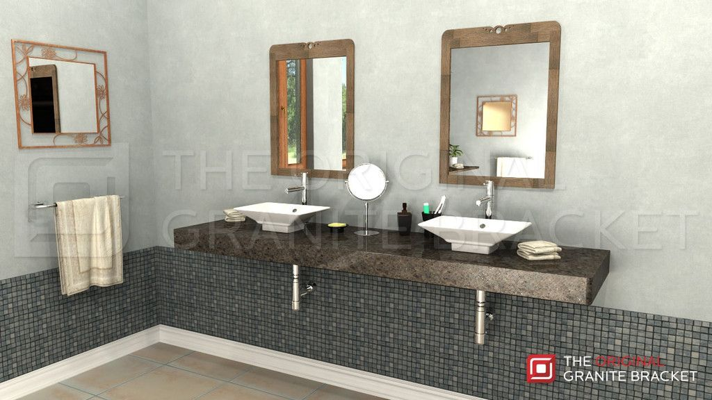Great Free Hanging Shelf Bracket Floating Vanity By The Original Granite Bracket  To Make Your Bathroom Vanity Appear To Float.