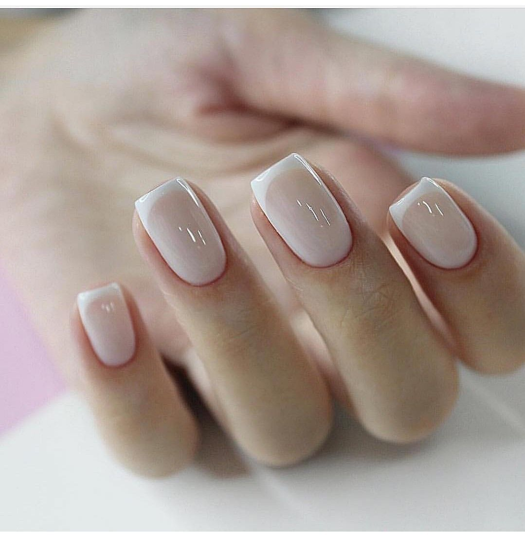 Elegant French Manicure Nails Are Perfect Length And Shape Clean Thin White Lines French Manicure Nails Manicure French Tip Nails