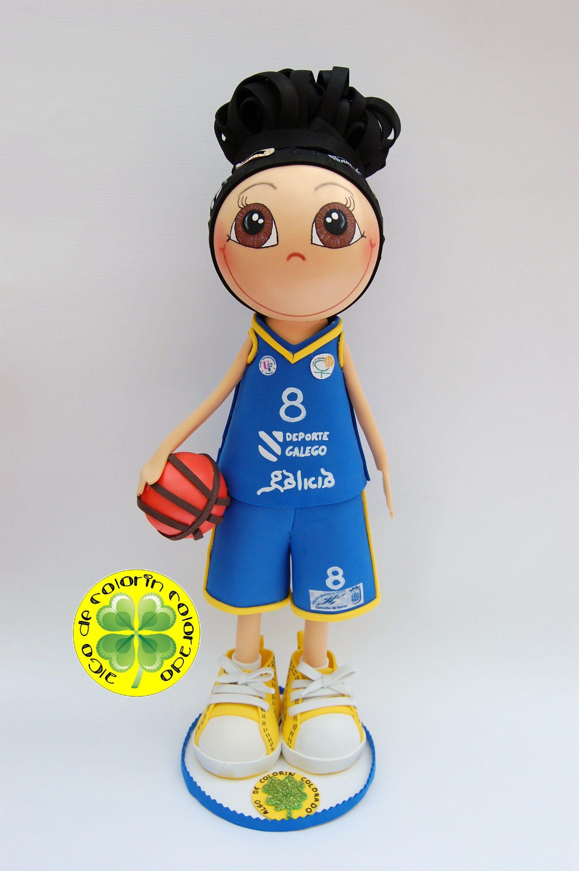 Fofucha Jugadora de Baloncesto, regalo para una profe de Gimnasia ...