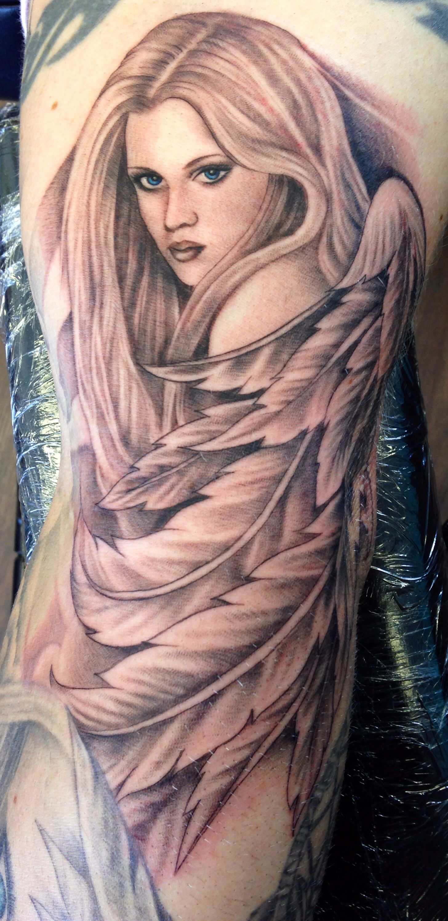 Angel By Wendy Mcaninch Tanglewood Tattoo Studio With Images