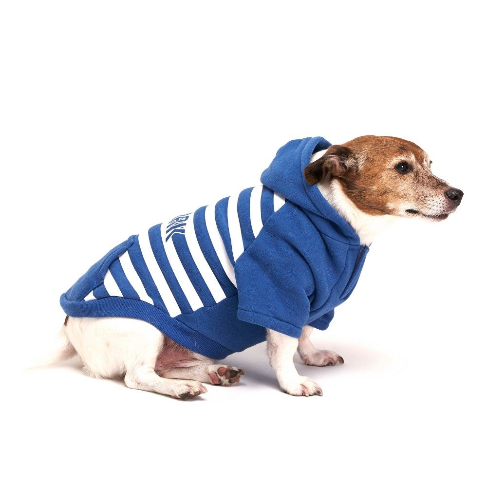 8c572e0bbd78 Royal Animals Stripe New York Dog Hoodie - Blue - M, Pink in 2019 ...