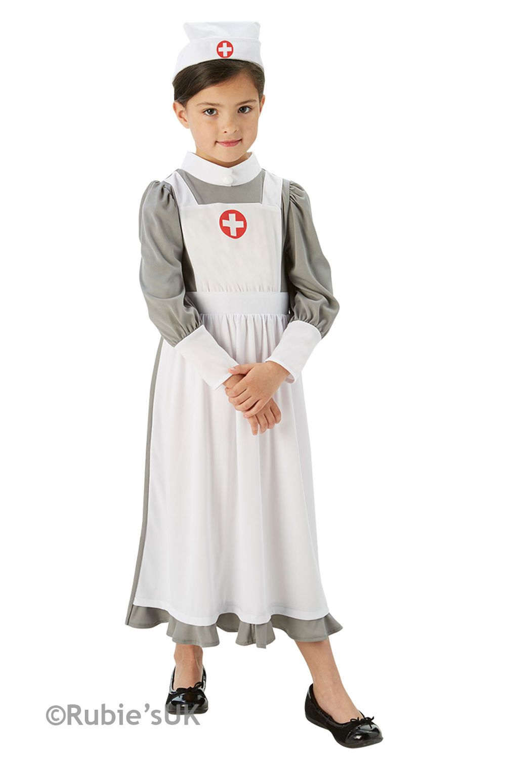 WW1 Nurse Costume Girls Fancy Dress Uniform Historical  Kids Great War Costume