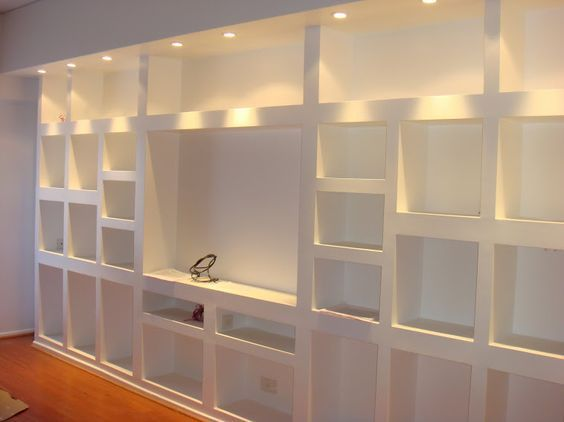 Mueble en durlock encabo ideas mubles yeso pinterest for Mueble 3 estantes