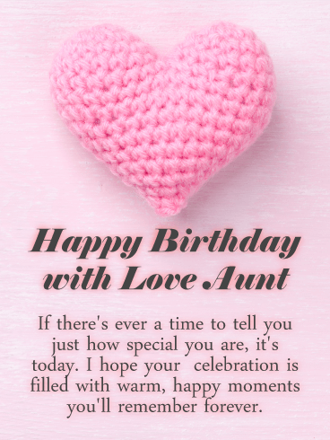 You Are Special Happy Birthday Card For Aunt Quote Relationship