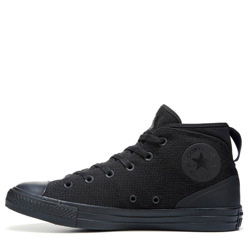 Mens Converse Chuck Taylor All Star Syde Street Poly Mid Sneaker Black Mono
