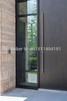 404# 70 Inches /1800mm 304 Stainless Steel Entrance Entry Front Wood Timber  Glass Garage