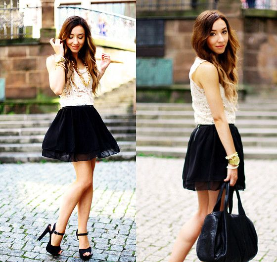 I Any Wear Lace Top, I Any Wear Mini Skirt, Oohmy Arm Candy, Back ...