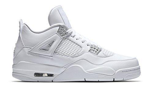 100% authentic 2575a 32177 Nike Jordan Men Air Jordan 4 Retro white metallic silver-pure platinum Size  12.0 US