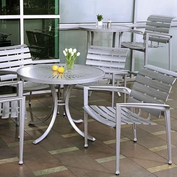 Veer cast aluminum outdoor furniture by Tropitone®.  Available from Rich's for the Home http://www.richshome.com/