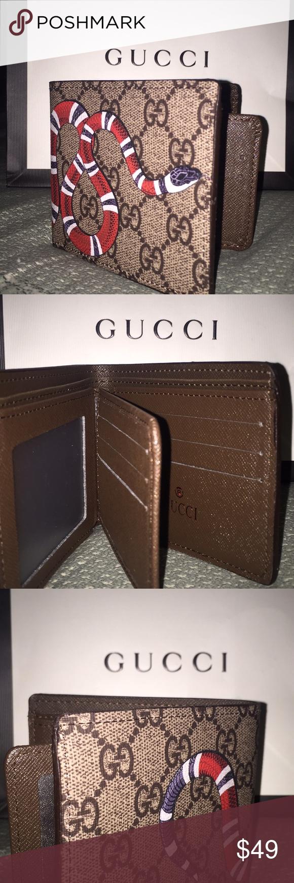 1ea23b9784183b Gucci wallet snake logo 🐍 Gucci wallet snake logo, very fashionable Gucci  Bags Wallets