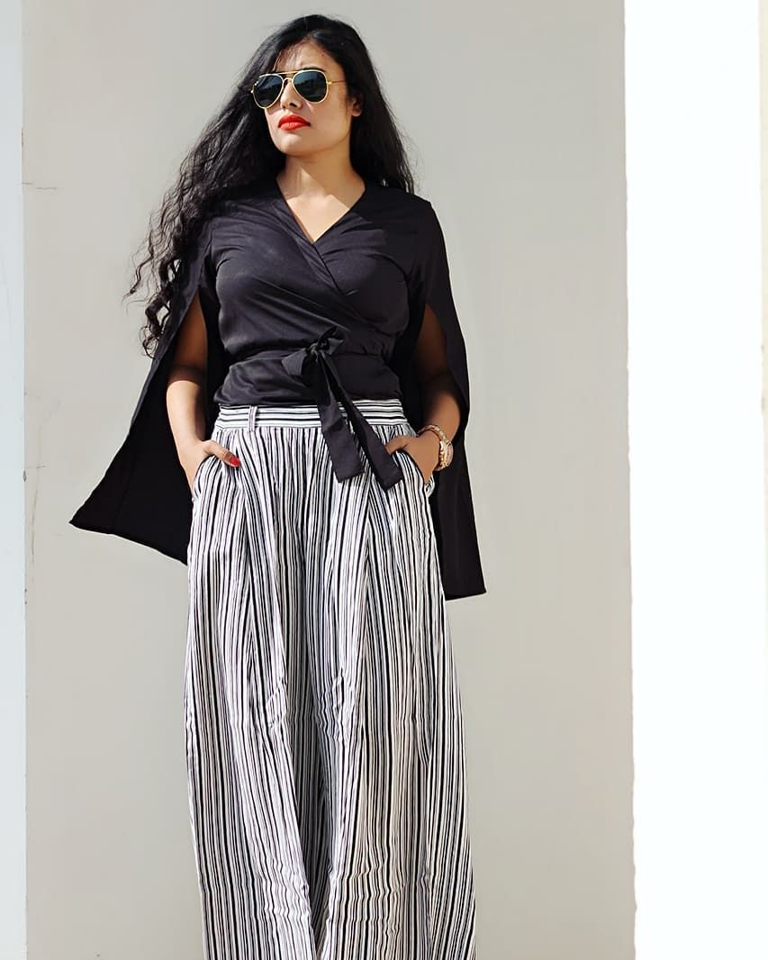 There Are Infinite Shades Of Grey Writing Often Appears So Black And White Shop This Knotted Top With Cape Sleeve Shades Of Grey Black And White Fashion