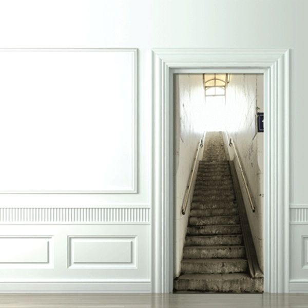 Fototapete optische täuschung  Optische Täuschung mit fototapet treppe | Türfolien | Pinterest ...