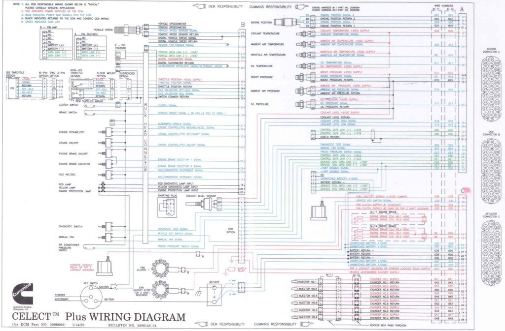 Cummins N14 Celect Wiring Diagram Within Best Of