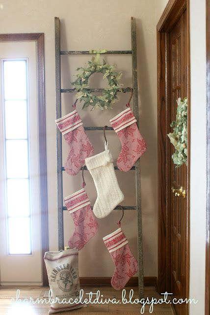 How To Hang Your Christmas Stocking Without A Mantel #christmasdecor