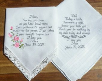 New Daughter Son Wedding Gift From Mom And Dad By Canyonembroidery