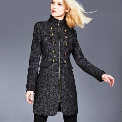 manteau femme style militaire,Manteau Officier long pour
