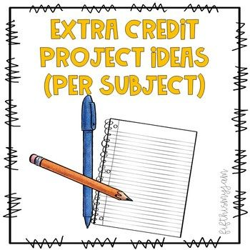 Full Extra Credit Packet 4 Subjects Included Extra Credit Resource Classroom 5th Grade Math