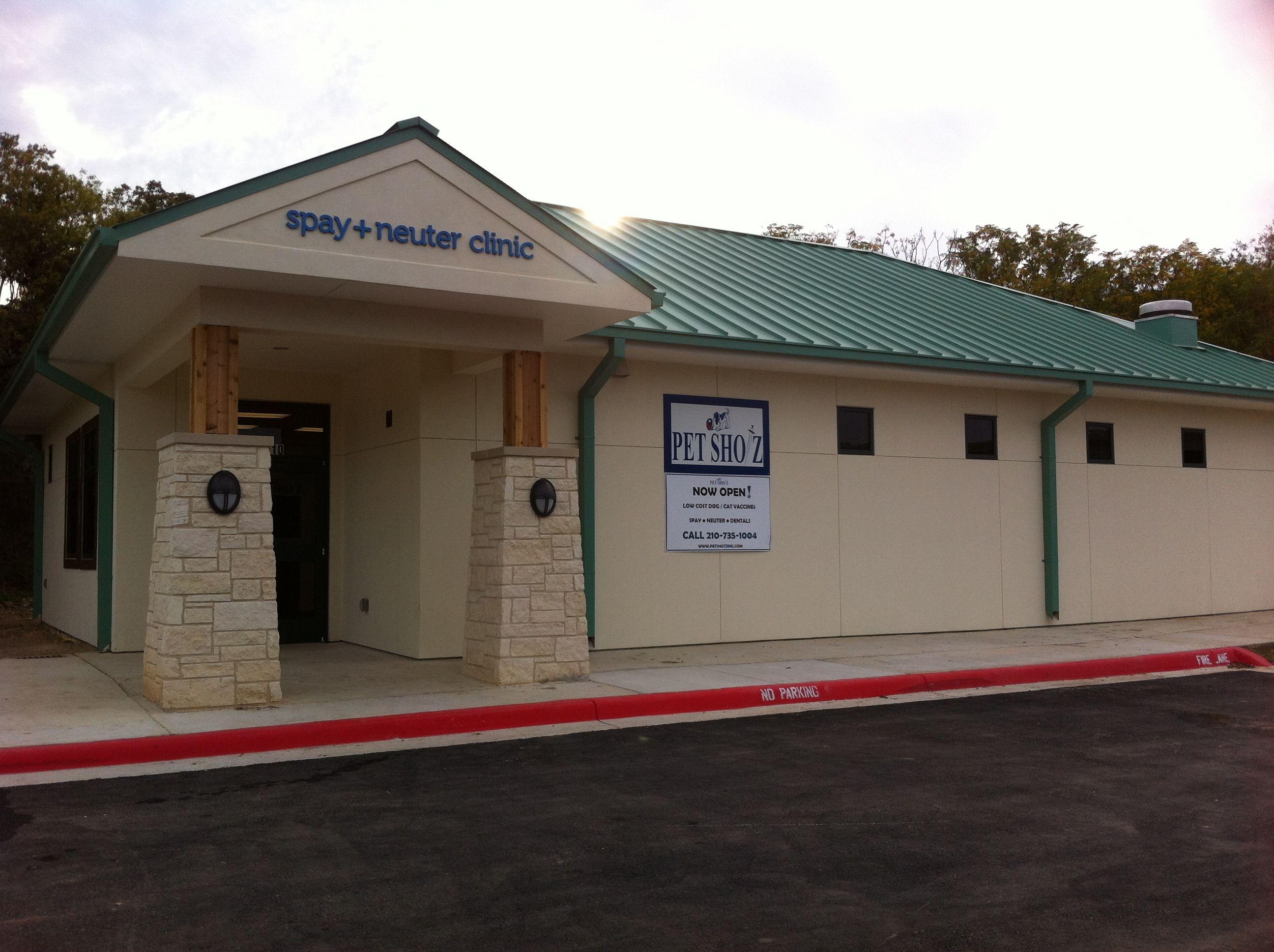 Pet Shotz Inc Spay Neuter Clinic across the street from