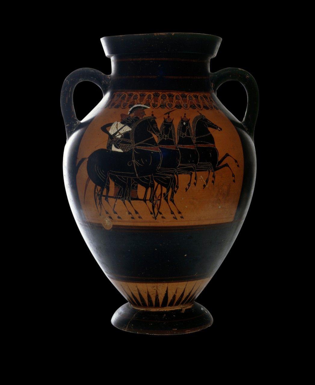 Attic Black Figure Amphora Of The E Group Figurativo Nero Museo
