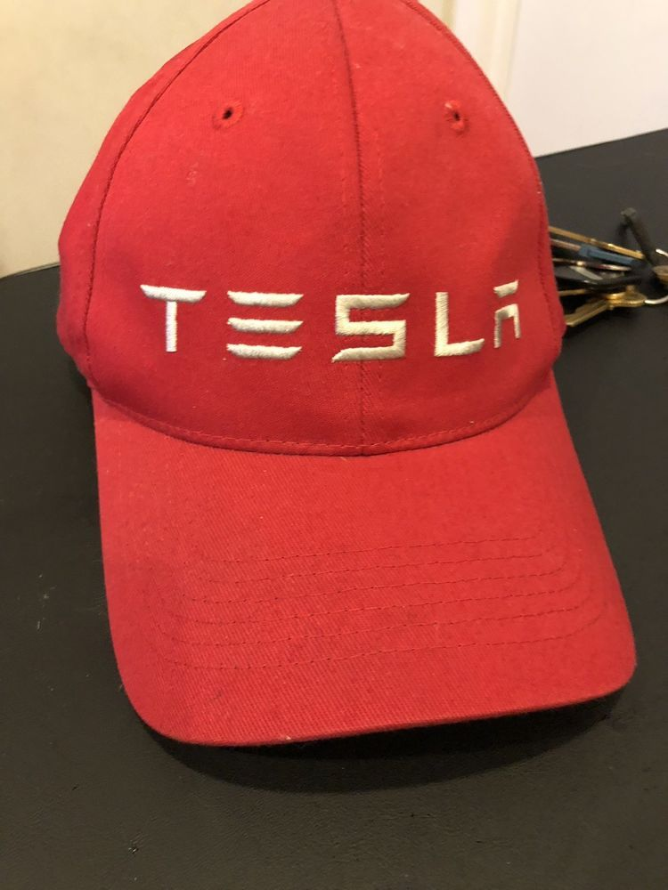 ... x Baseball Hat Cap. Authentic Red Tesla Hat  fashion  clothing  shoes   accessories  mensaccessories  hats (ebay link) 1dbb05e36d54