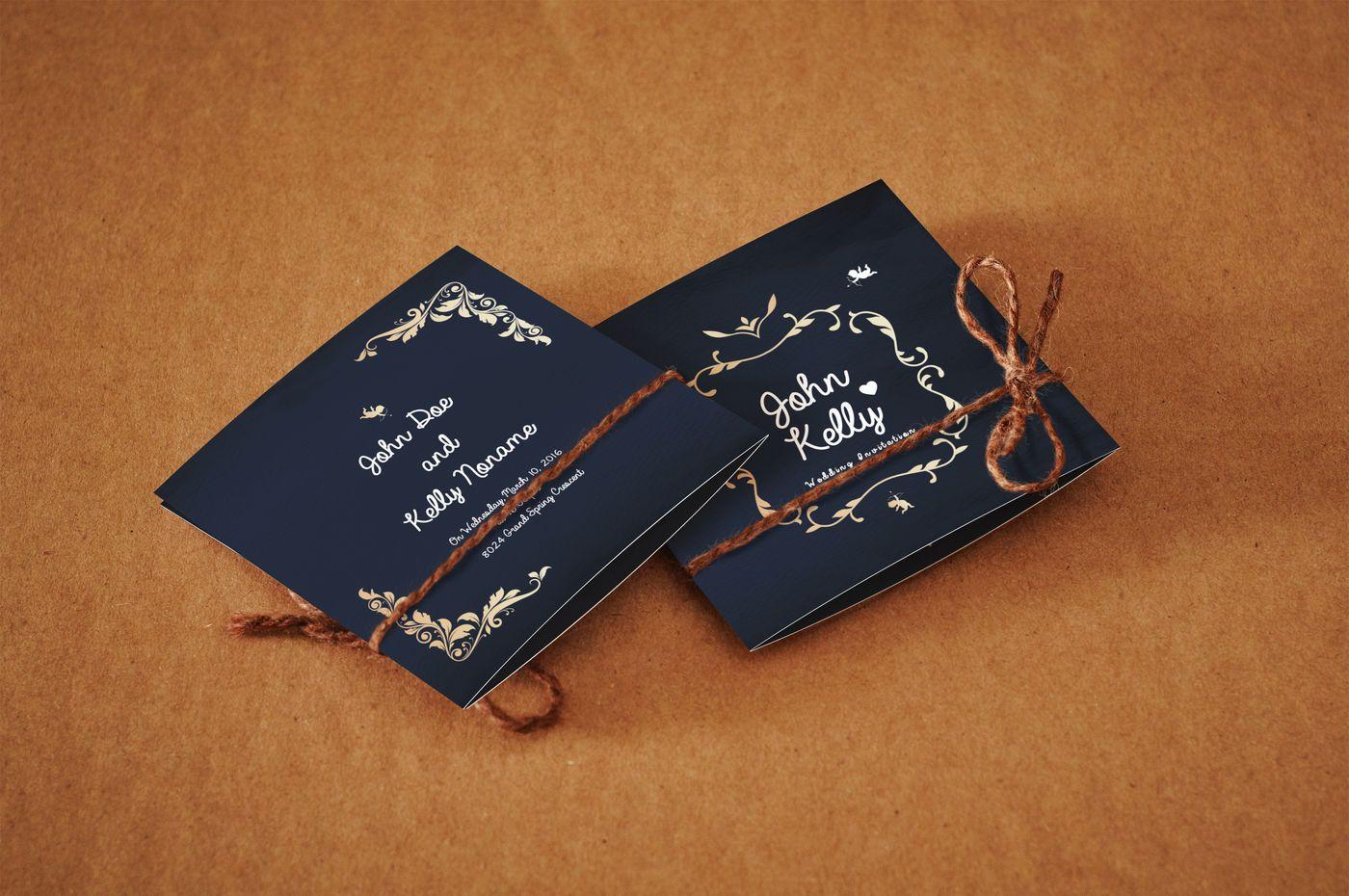 Mini Wedding Invitation Card By ShapShapy TheHungryJPEG.com