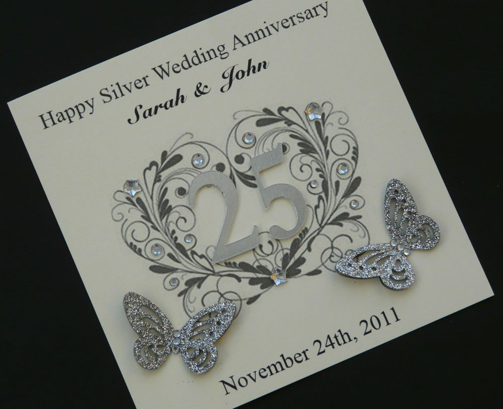 25th Silver Wedding Anniversary Invitations Invitations Design Inspirat Marriage Anniversary Cards Silver Wedding Anniversary Wedding Anniversary Invitations