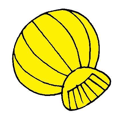 Gele schelp van kleurenspel