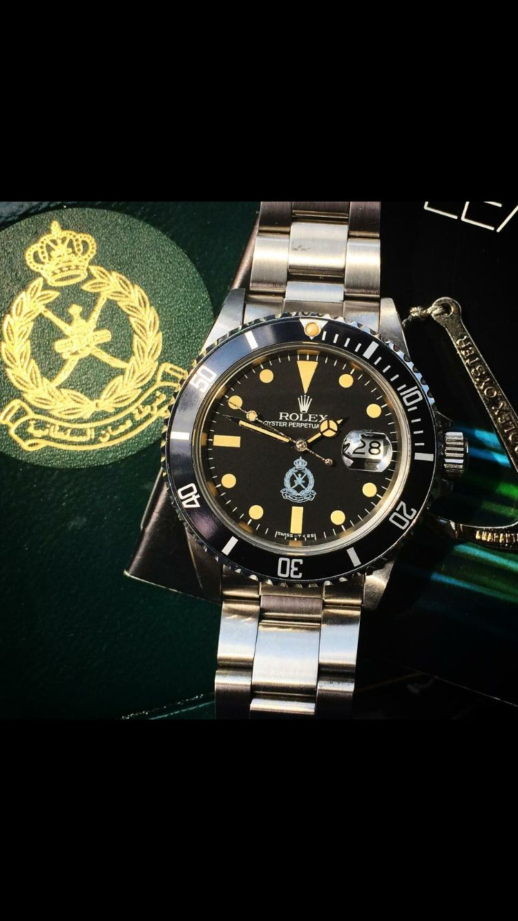 Wrist watch price in oman - Extremely Rare 16800 Oman Police Submariner