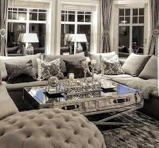 Image Result For Silver Rooms With Purple Striped Curtains Curtain Living Room Window Treatments