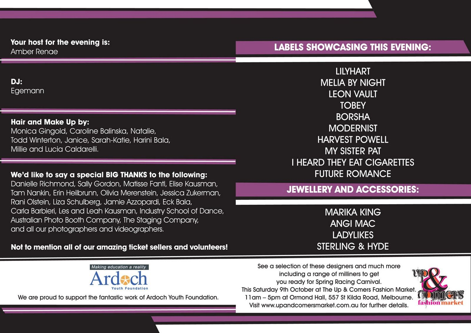 Image Result For Event Program For Fashion Show Event Program
