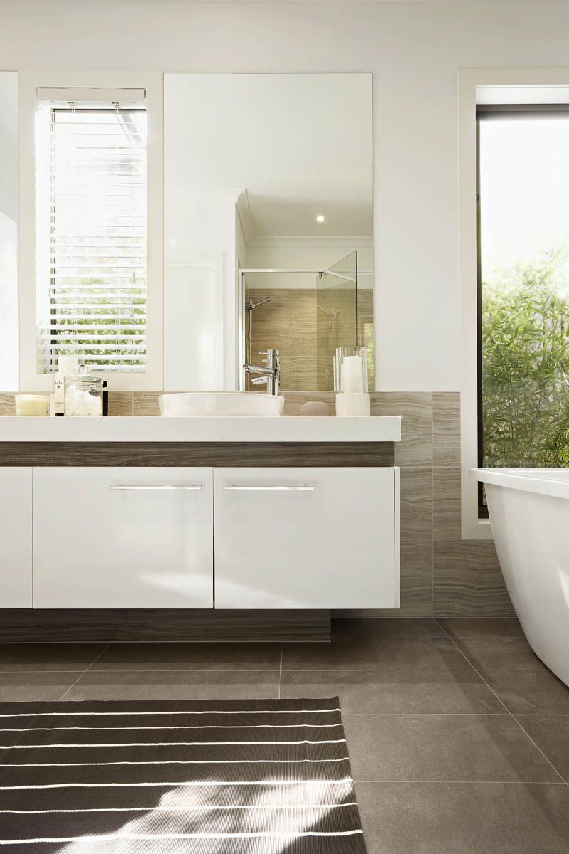 Carlisle Homes 1141 Pure White | Caesarstone Bathrooms | Pinterest ...