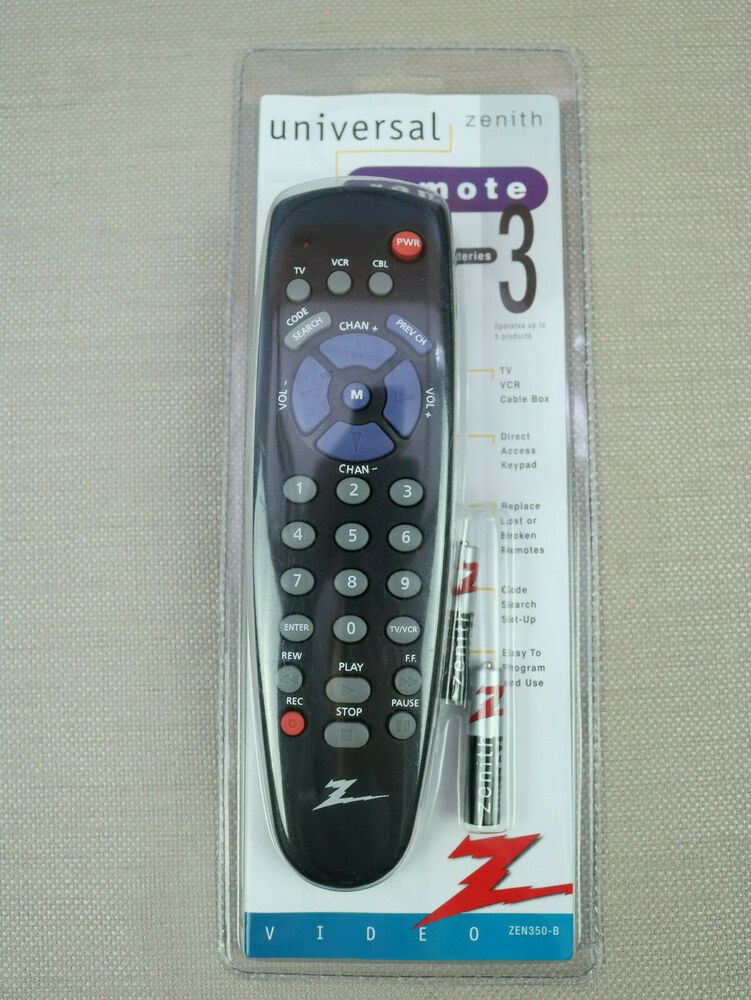Zenith Universal TV Digital Converter Box Remote 3 IN 1 - ZEN350-B